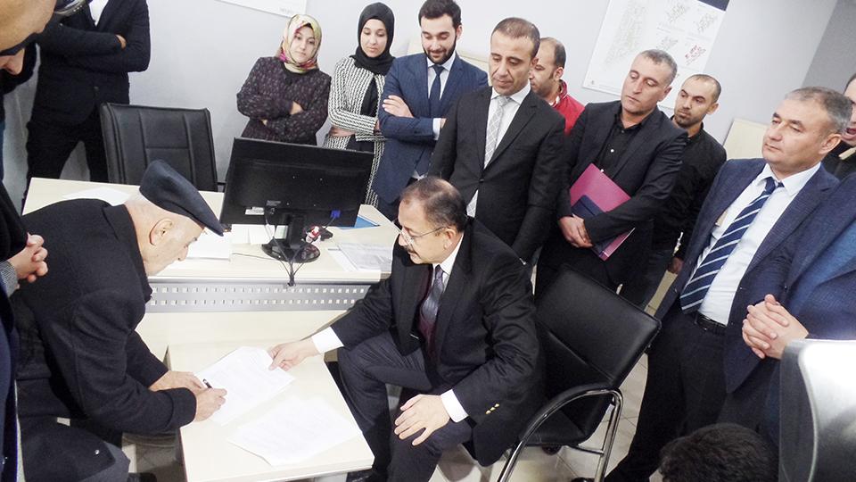 Cizre 1A Uygulama Bölgesinde Sözleşmeler İmzalanıyor